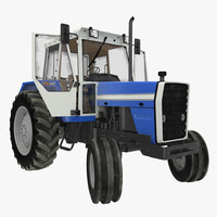 Vintage Tractor Generic Rigged 3D Model