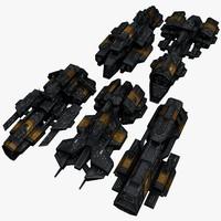 3d max 5 space battleships
