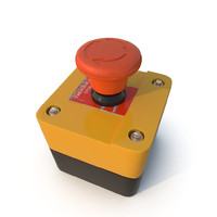 3d max emergency button red