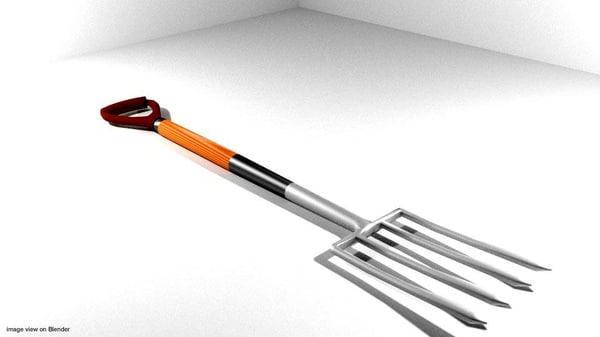 3dsmax garden tool digging