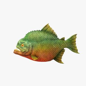 3d piranha