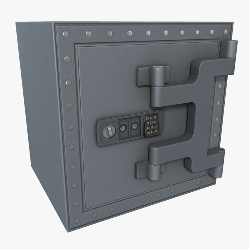 safe asset polys 3d model