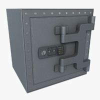 safe asset polys 3d model
