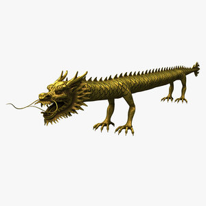 ancient straight dragon asian 3d 3ds