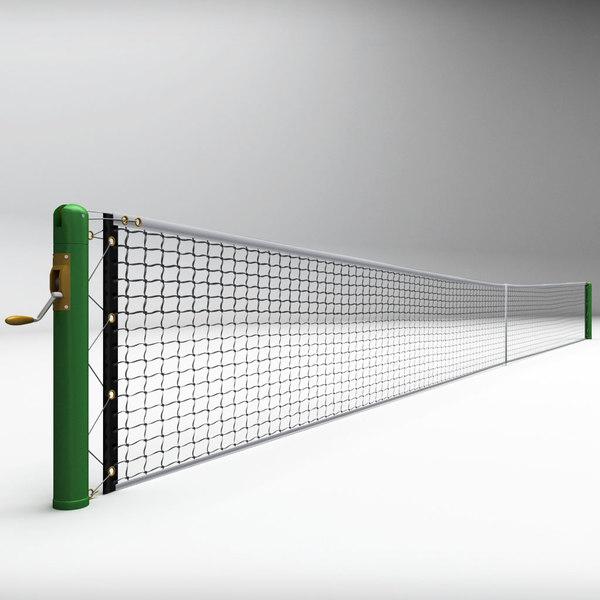 3d tennis court net