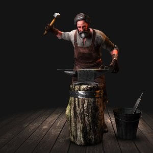 blacksmith 3d max