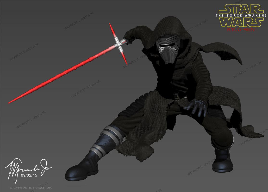 3d model of kylo ren star wars