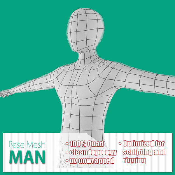 base mesh man max