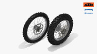 ktm oem enduro wheel 3d obj