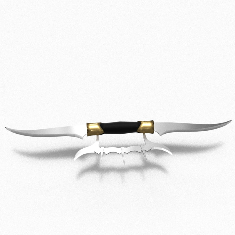 3d model double-blade
