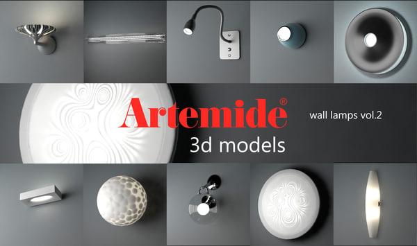 artemide wall lamps volume 2 max