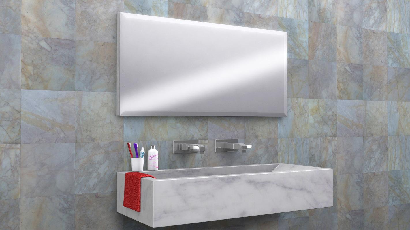 ol bathroom furniture set 3d max