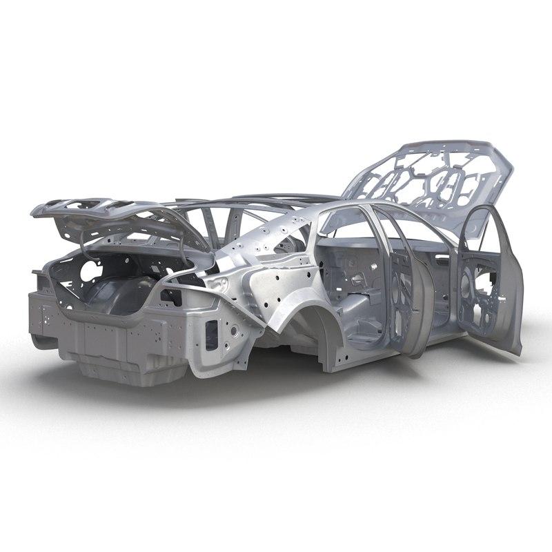 car frame 6 rigged 3d max