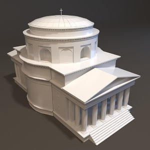 st alexander church neoclassical 3d model