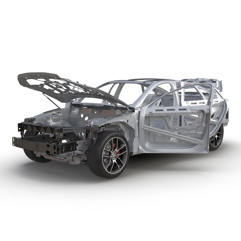 3d model car frame chassis 3
