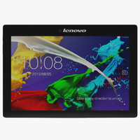 tablet lenovo tab 2 3d model