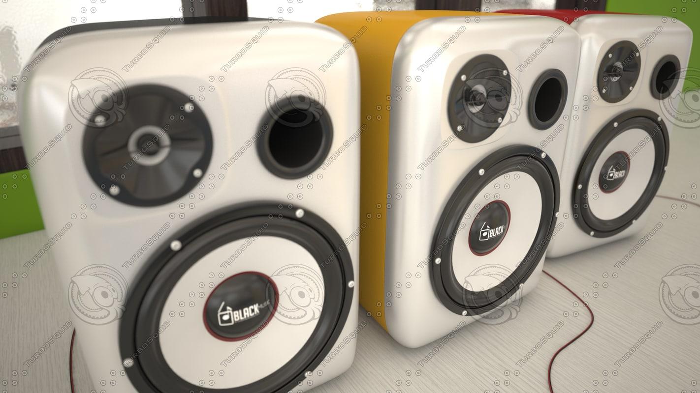 3d model speakers 2015
