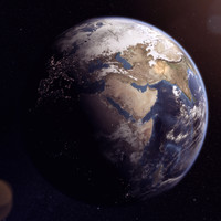 realistic earth 3d model