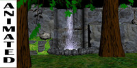 3d model of water fall