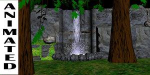 3d model of water fall