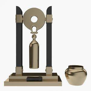 bell decorative deco 3d 3ds