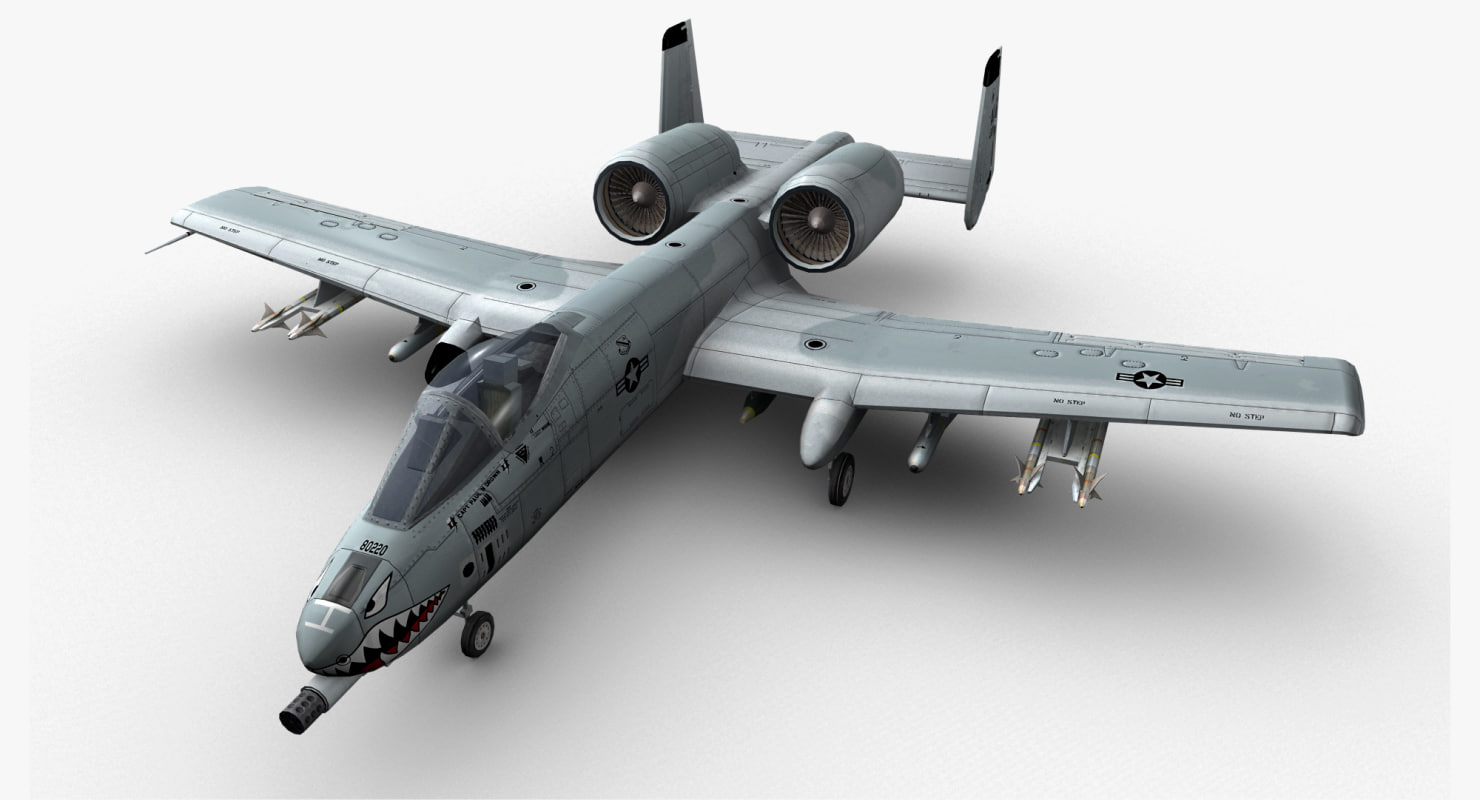3d a-10 thunderbolt ii jet fighter