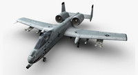 3d a-10 thunderbolt ii jet fighter