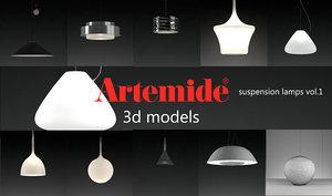 3d artemide suspension lamps volume 1 model
