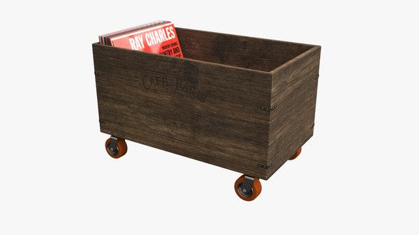 vintage crate 3d max