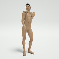 3d fbx sexy nude guy post