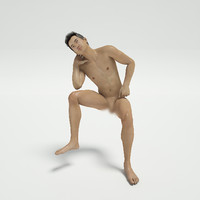 3d model sexy nude guy post