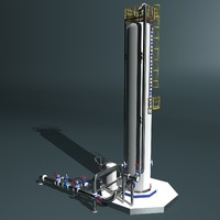 3d fractional distillation tower model