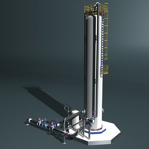 fractional distillation tower 3ds