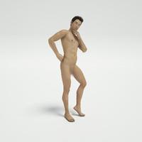 3d guy post nude
