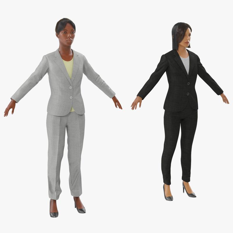 business womans 3d model