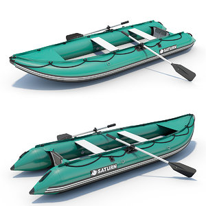 3d inflatable boat model