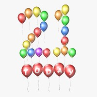 3d model balloons 21 today -