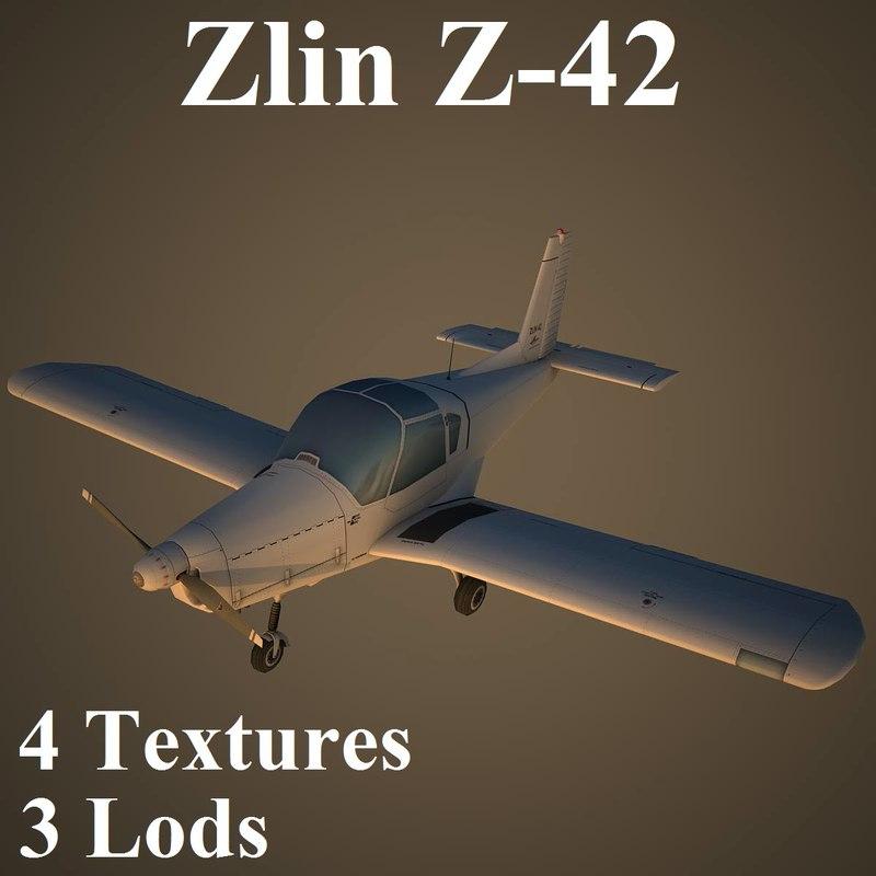3d model zlin low-poly czechoslovakian