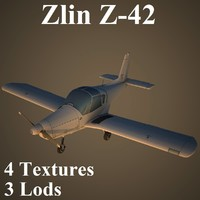 3d model zlin low-poly czechoslovakian