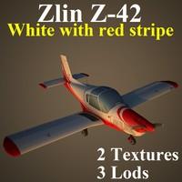 3d zlin red