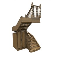 Stairs with wardrobe