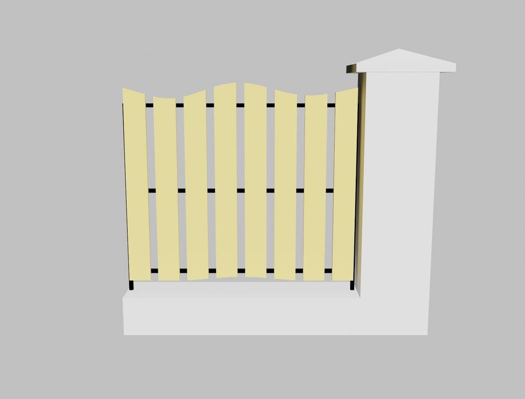 obj concrete fence