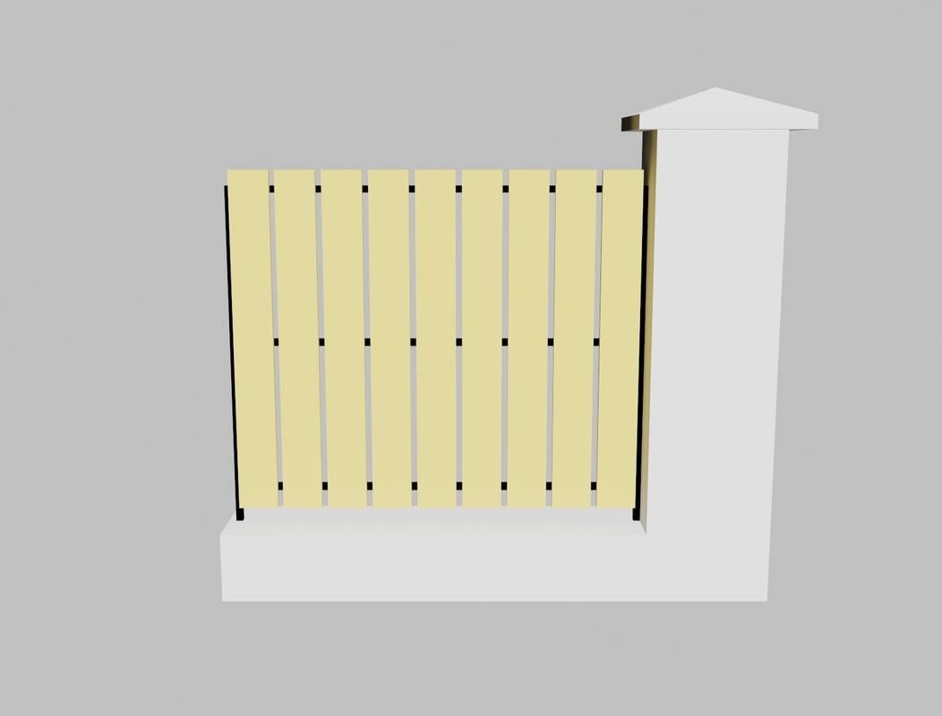concrete fence 3ds