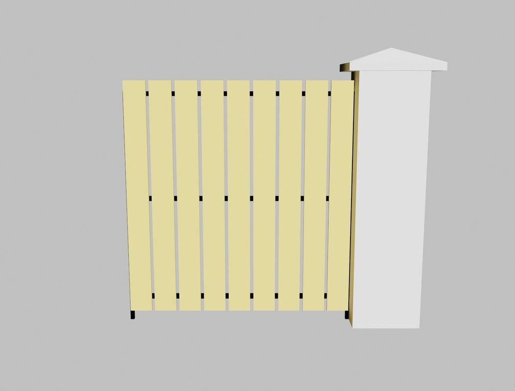 concrete fence 3d model