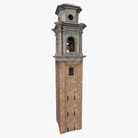 3d bell tower model