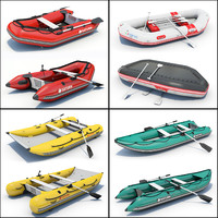 3d model 4 inflatable boat 01