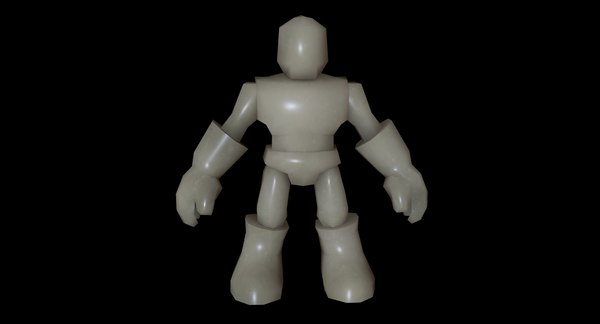 3d rigged humanoid model
