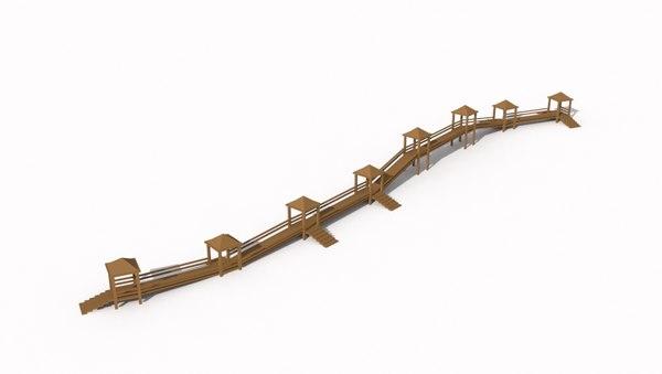 3d playground bridge model
