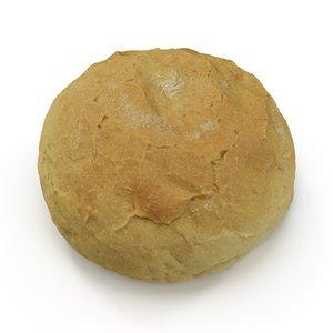 white bread roll 3d model