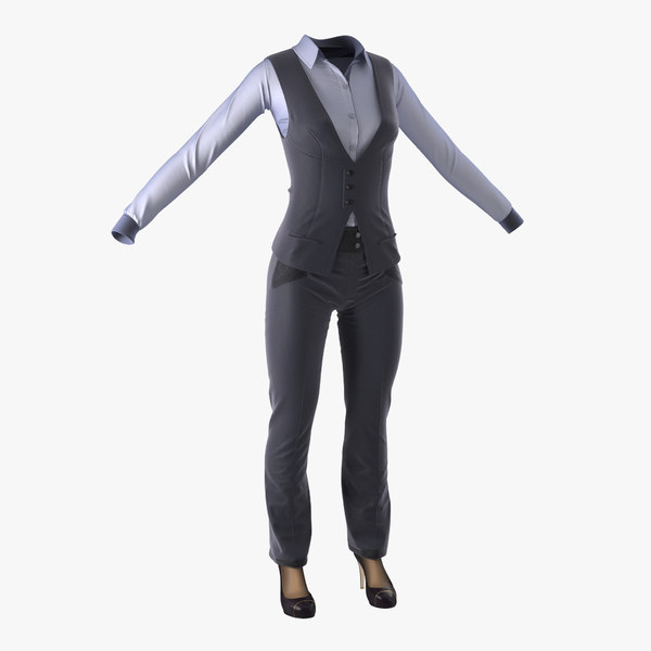 3d model of women suit 5
